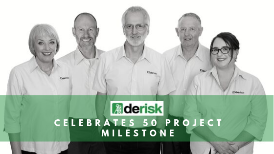 Derisk achieves important milestone of 50 projects