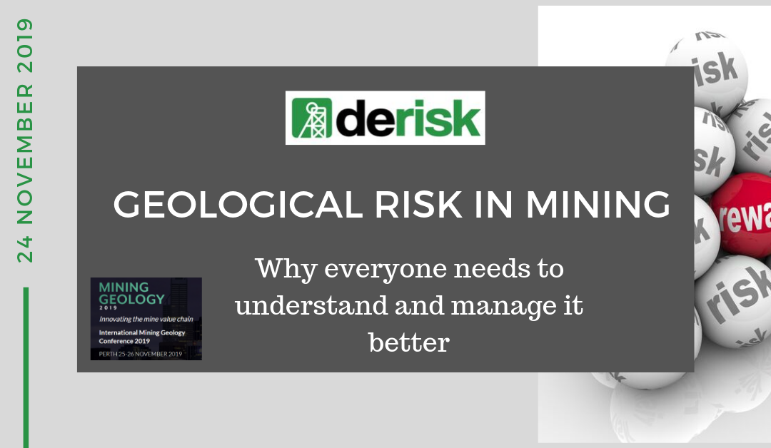 Derisk to hold workshop at Mining Geology 2019